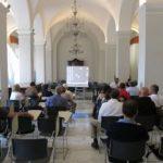 Aula del Seminario durante l'intervento di Fabio Nones e di P. Rubervall