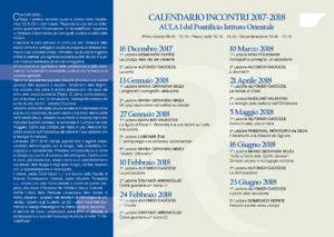 Pieghevole incontri 2017/2018