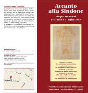 """Volantino """"Accanto alla Sindone"""" 2010"""