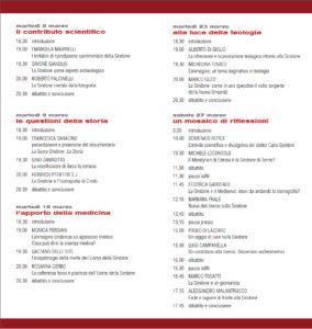 """Volantino """"Accanto alla Sindone"""" 2010 interno"""